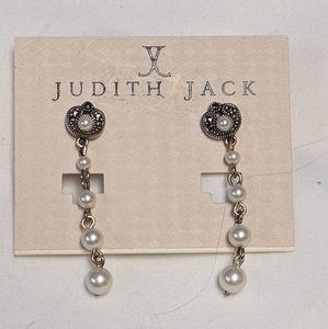 Judith Jack NWT deco-style dangle earrings